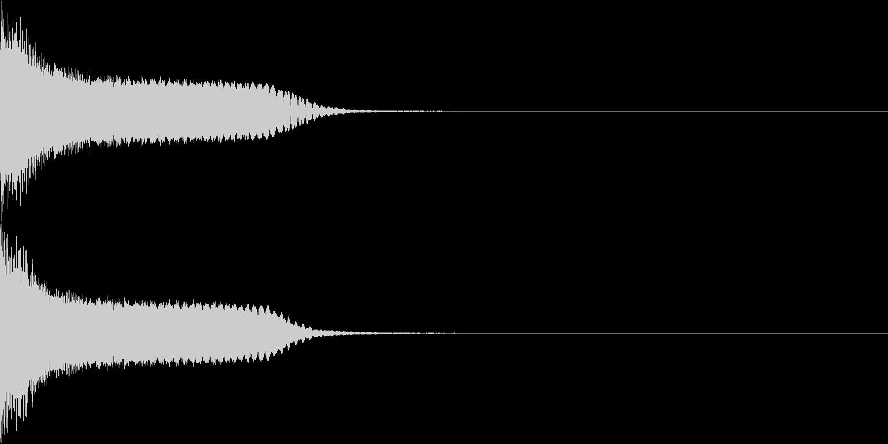 刀 剣 カキーン シャキーン 目立つ23の未再生の波形