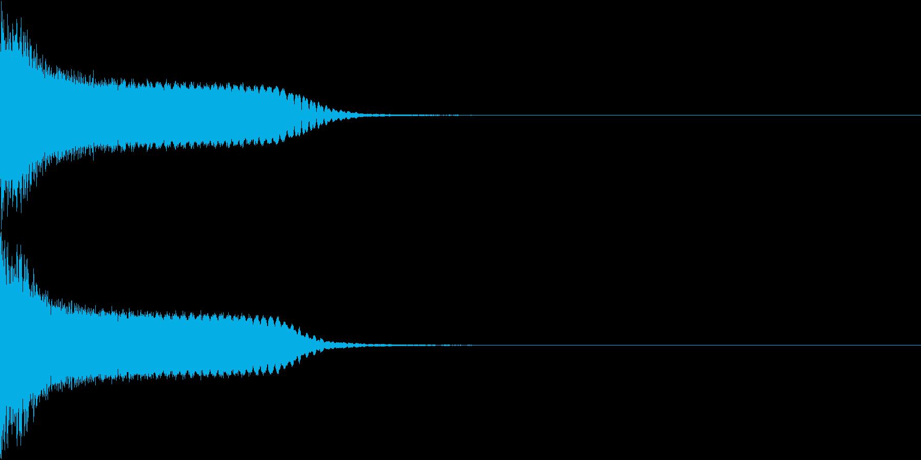 刀 剣 カキーン シャキーン 目立つ23の再生済みの波形