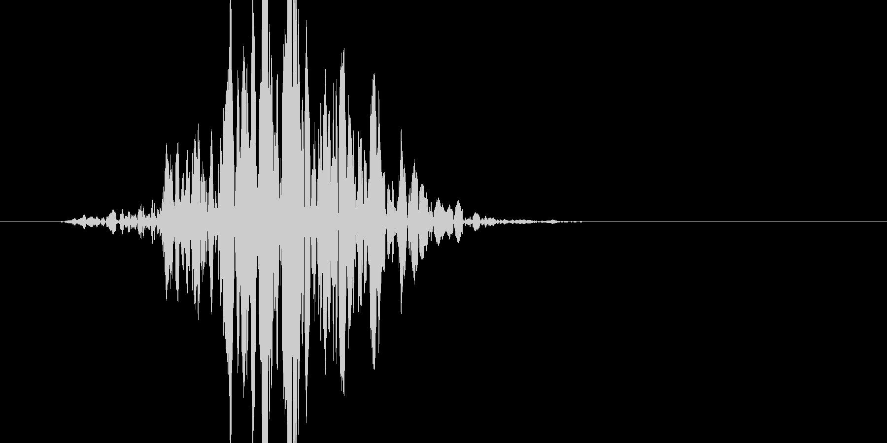 ブン! よく有るバットの素振り音です。の未再生の波形