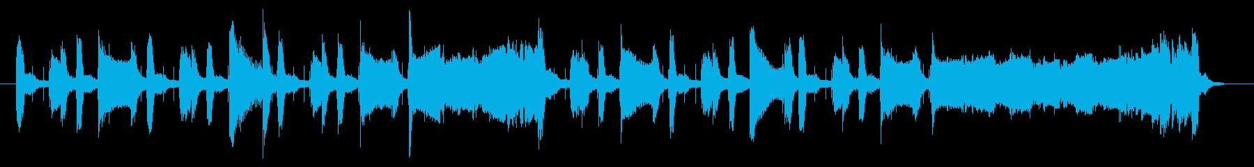 サックスによるジャジーなジングル 22秒の再生済みの波形
