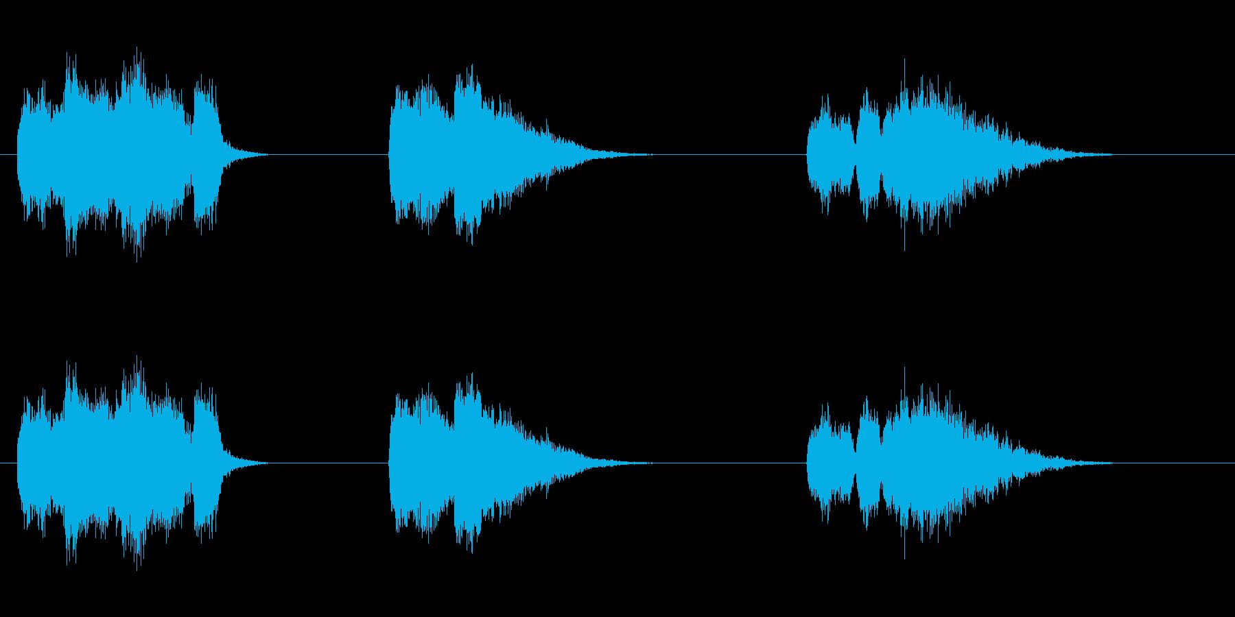 爆発3の再生済みの波形