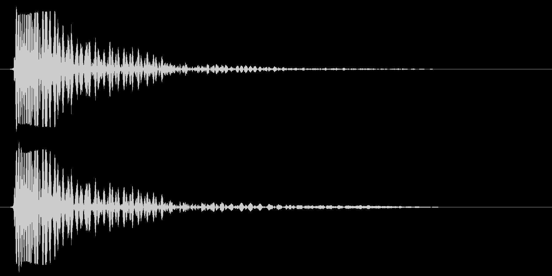 タムタムを一回たたいた音の未再生の波形