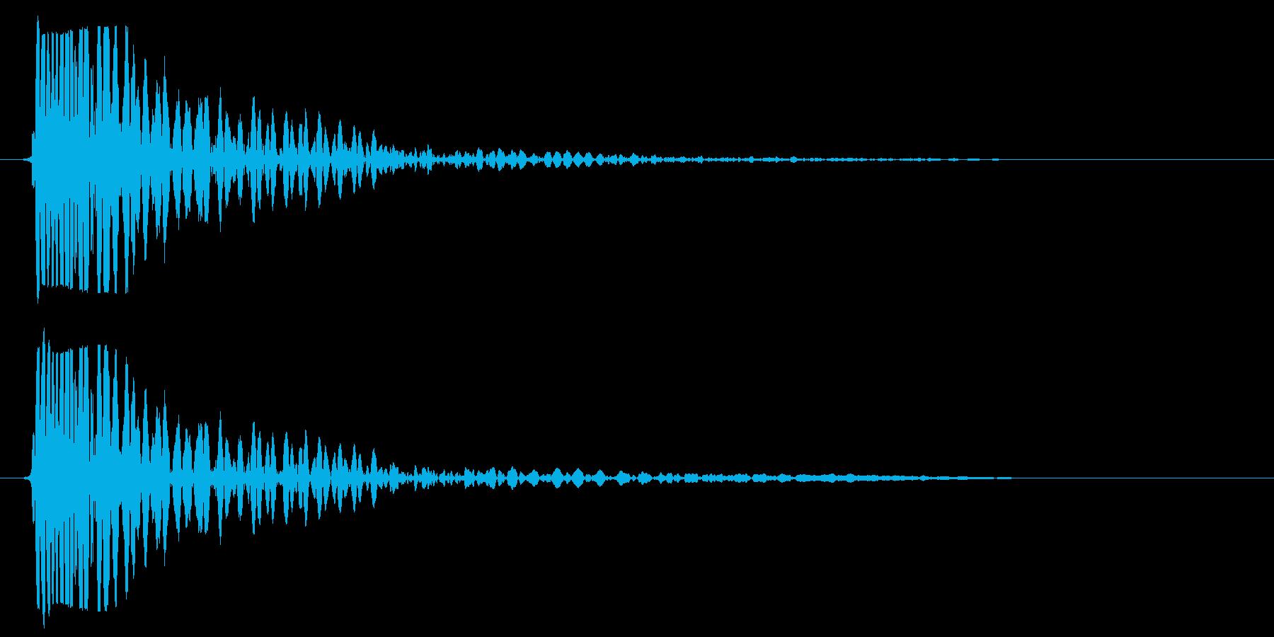 タムタムを一回たたいた音の再生済みの波形