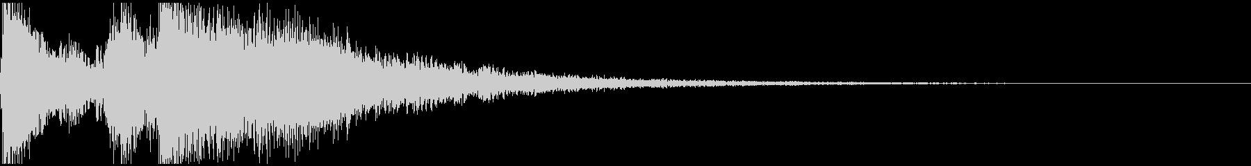「テッテテー!」王道ファンファーレの未再生の波形