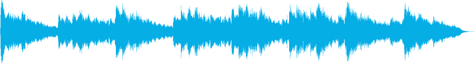 Gently warm BGM of flute main's reproduced waveform