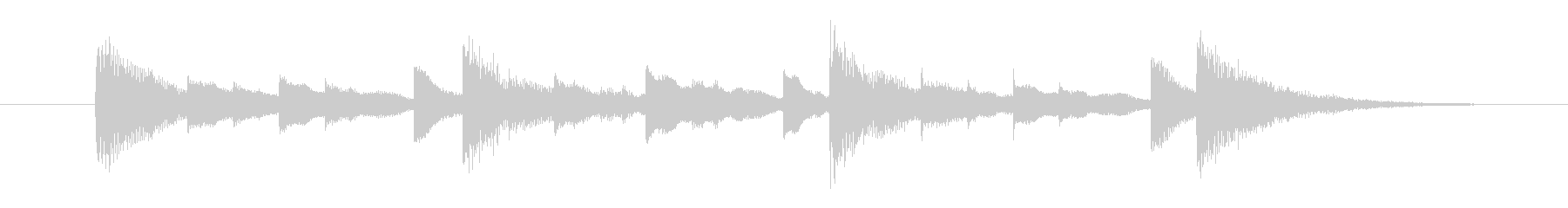 お知らせ音・合図の音の未再生の波形
