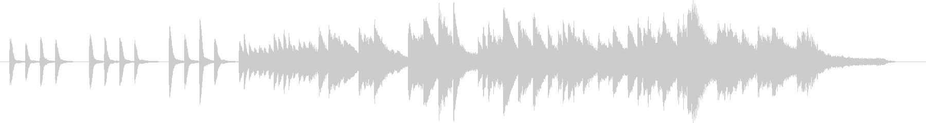 夏のイメージのピアノ01の未再生の波形