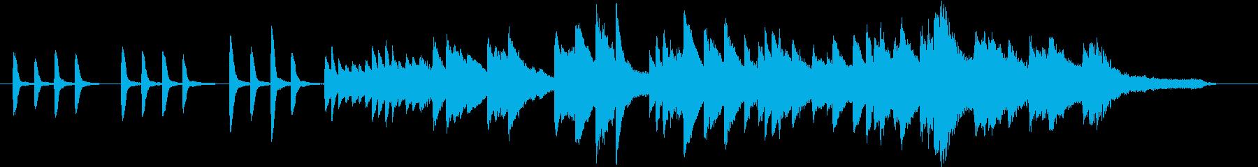 夏のイメージのピアノ01の再生済みの波形