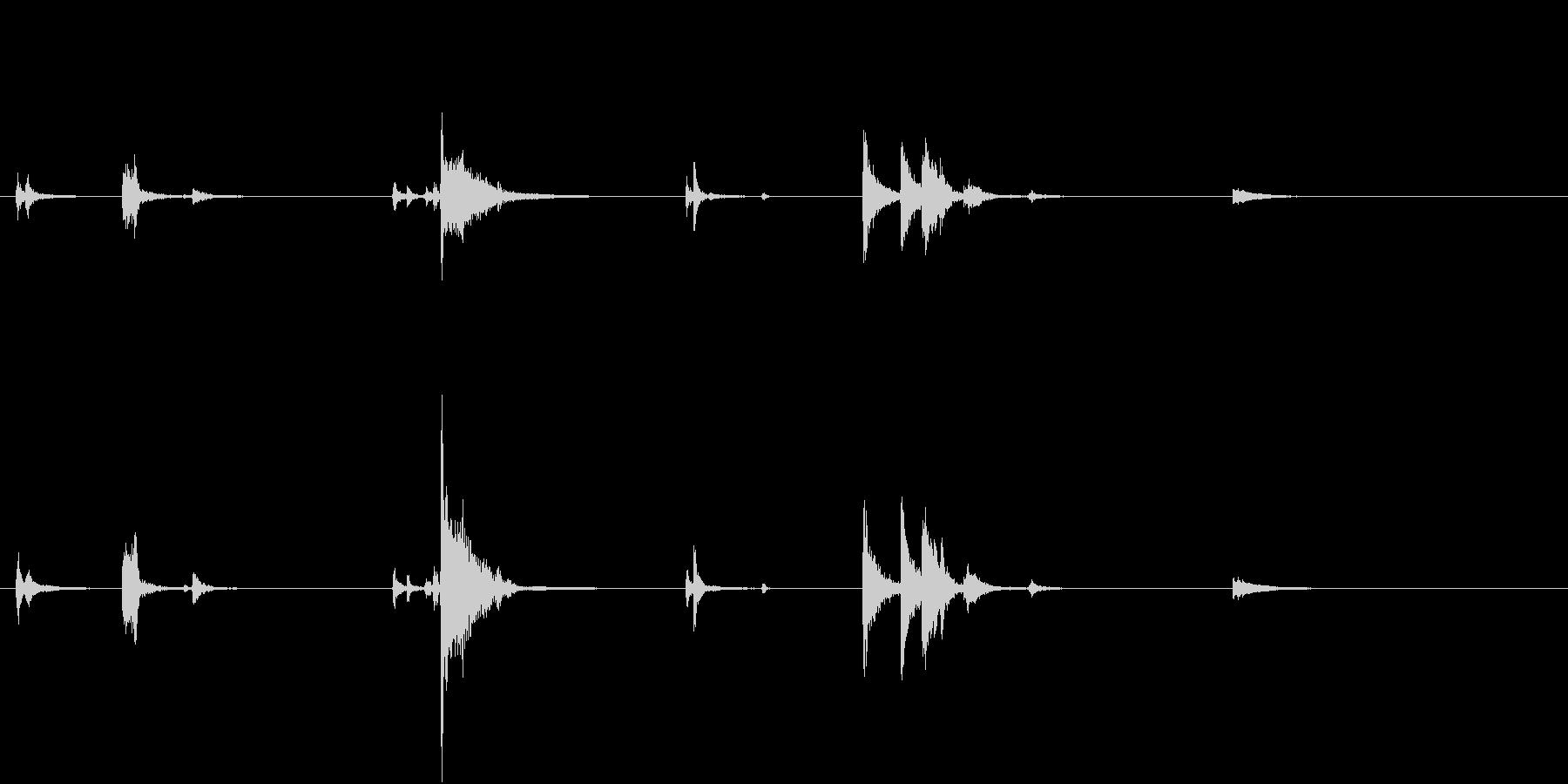 【生録音】お箸の音 32 食器に置くの未再生の波形