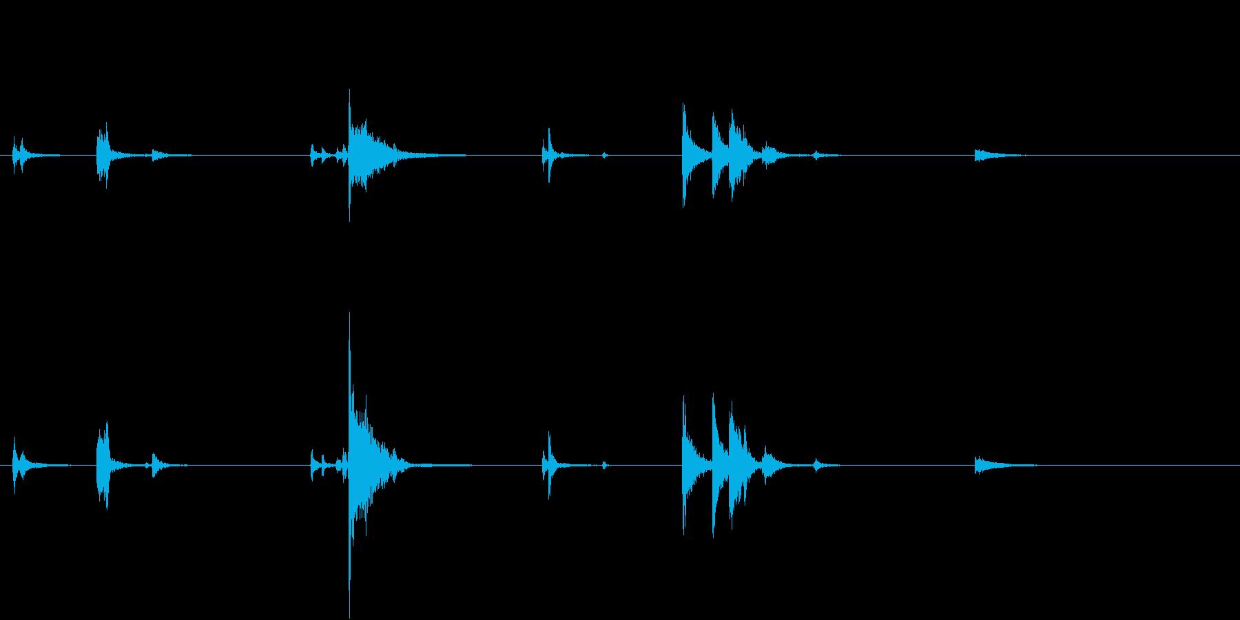 【生録音】お箸の音 32 食器に置くの再生済みの波形