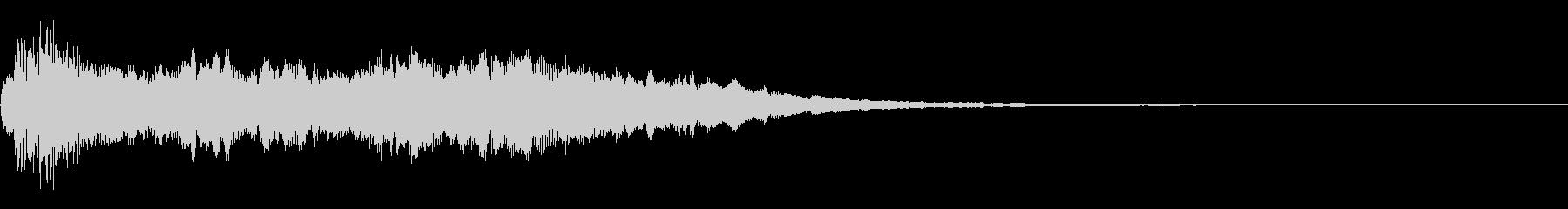 コーラスとハープのゴージャスな効果音の未再生の波形
