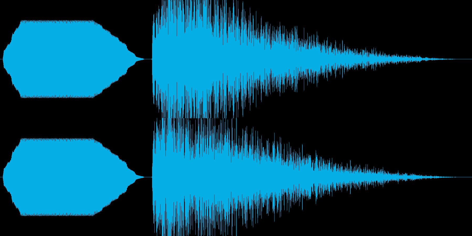 ヒューン……ドカーン!【バズーカ砲1】の再生済みの波形