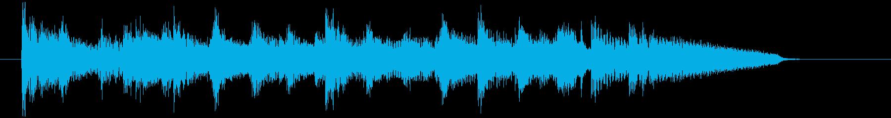 おしゃれなジャズピアノのジングル シックの再生済みの波形