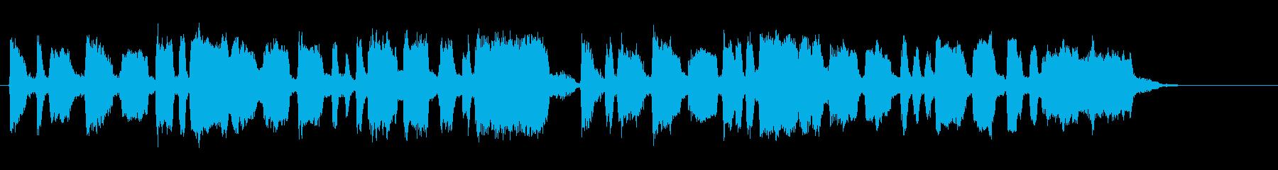 明るく煌びやかトランペットファンファーレの再生済みの波形