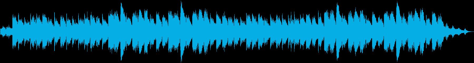 ゆったりとした雰囲気の環境音楽の再生済みの波形