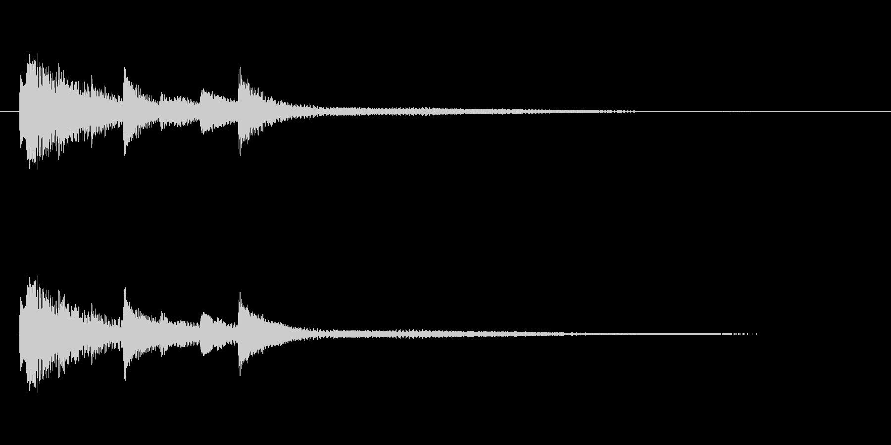 ピアノによる優しいサウンドロゴの未再生の波形