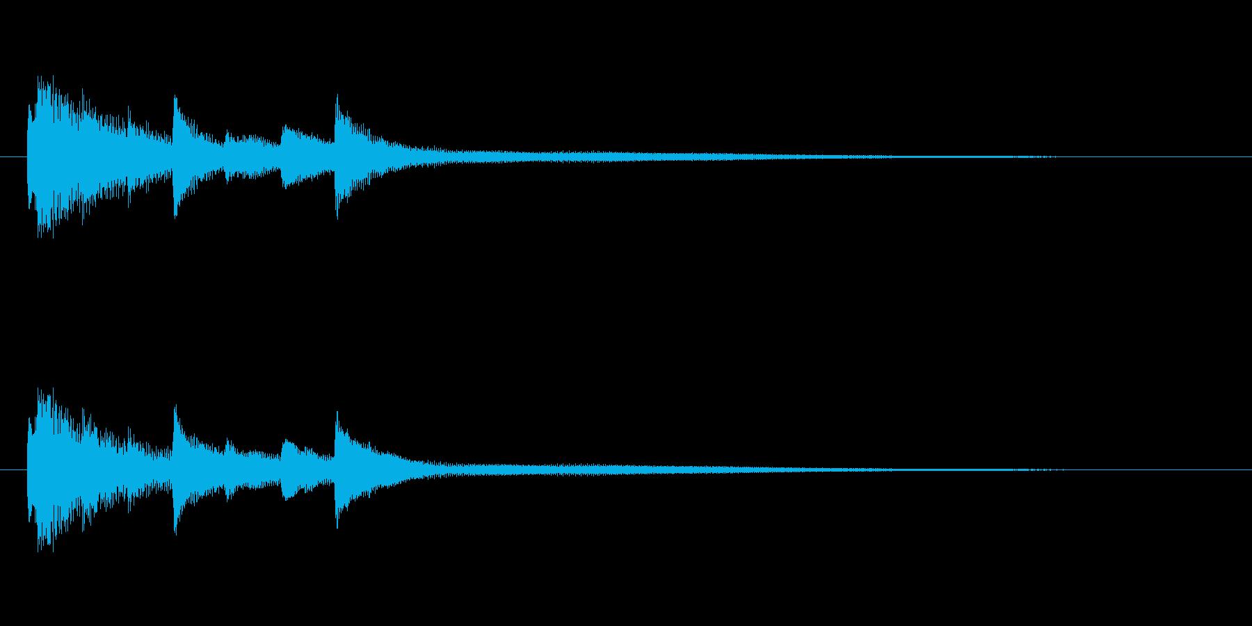 ピアノによる優しいサウンドロゴの再生済みの波形