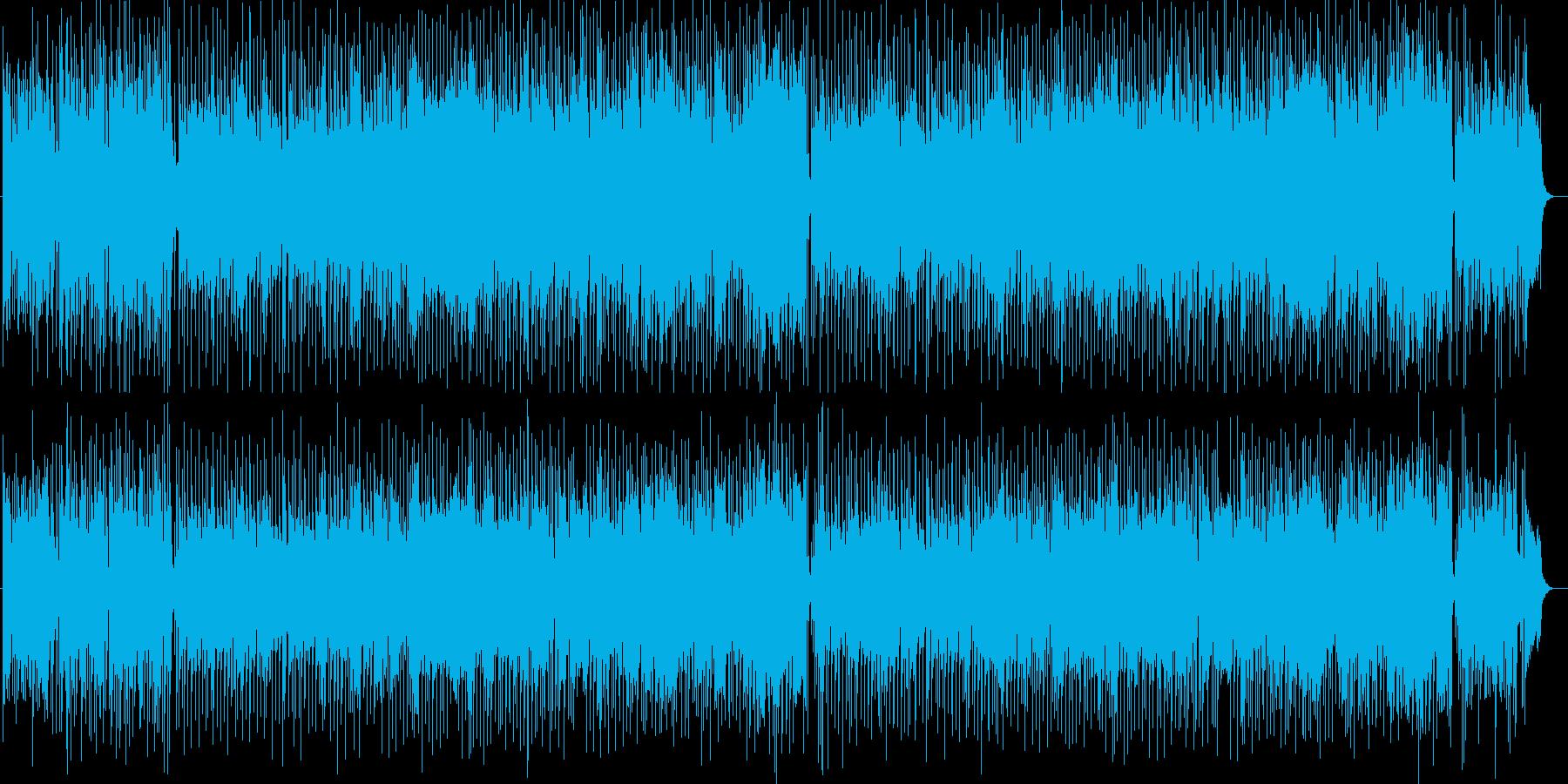 元気な朝のようなシンセサイザーポップスの再生済みの波形