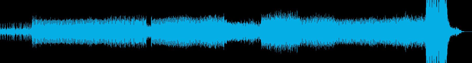 重厚なダーク系アンビエントテックトランスの再生済みの波形