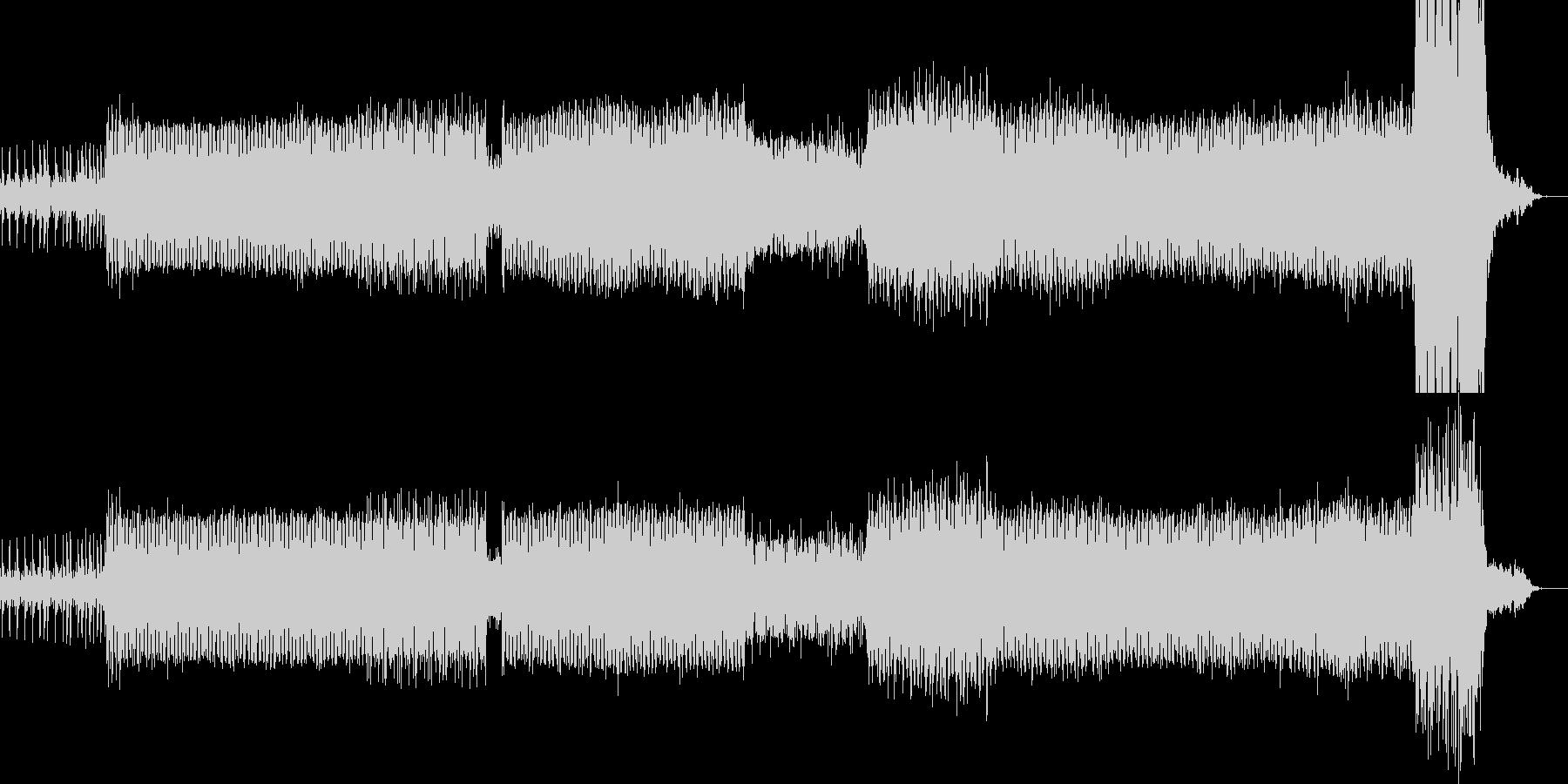 重厚なダーク系アンビエントテックトランスの未再生の波形