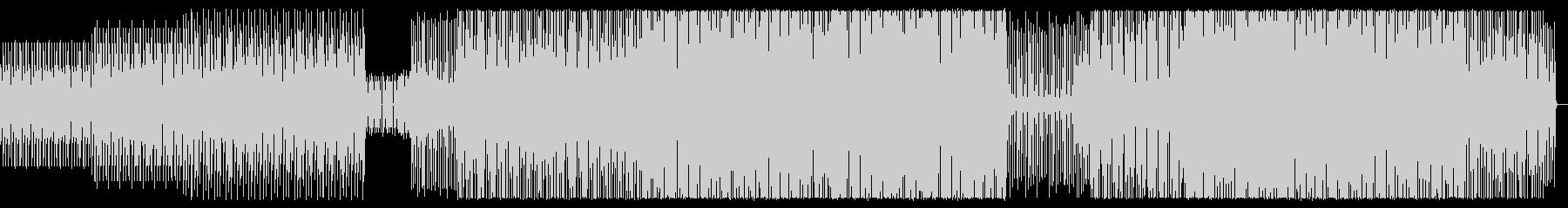 シンプルでクールなテクノの未再生の波形