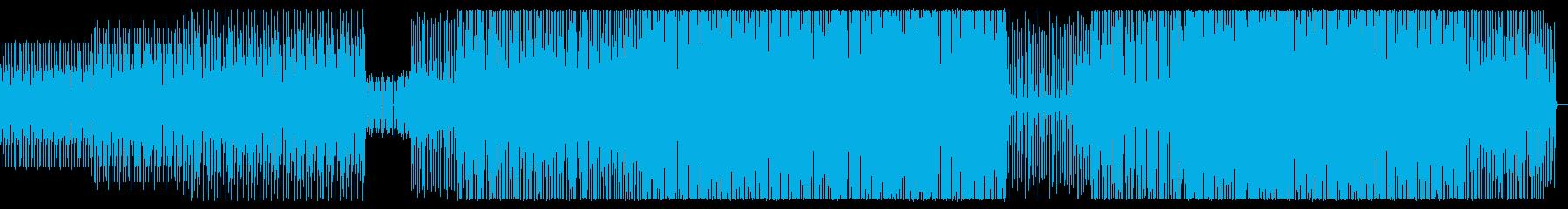 シンプルでクールなテクノの再生済みの波形