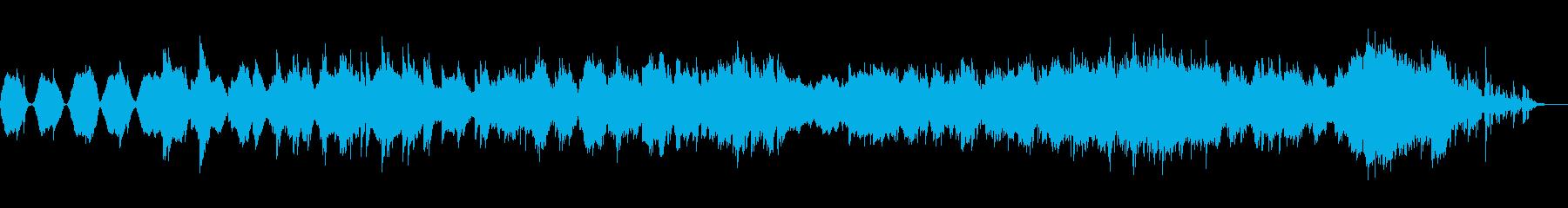 和風で優しい癒し系の楽曲の再生済みの波形
