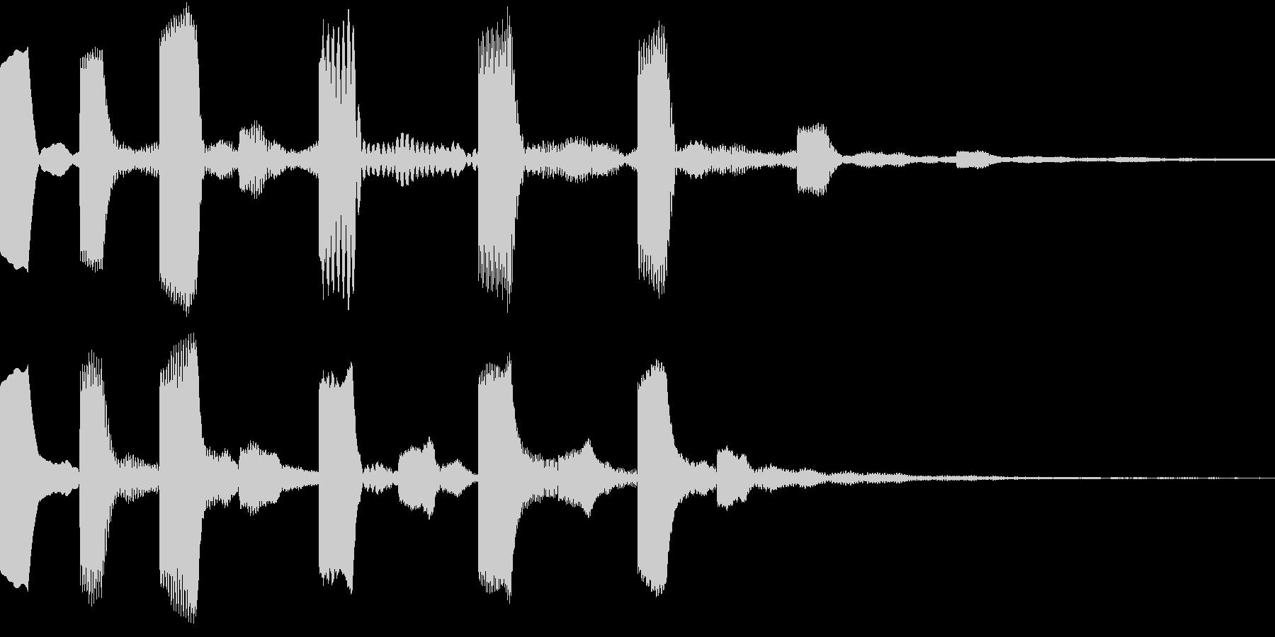 シンセ、テクノ、ピコピコ効果音1の未再生の波形