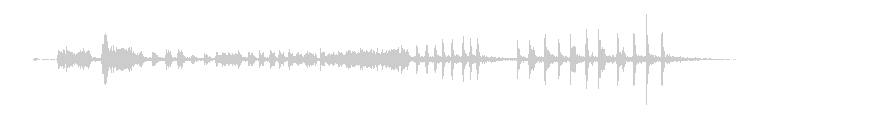 ラバーツイストキーキーの未再生の波形