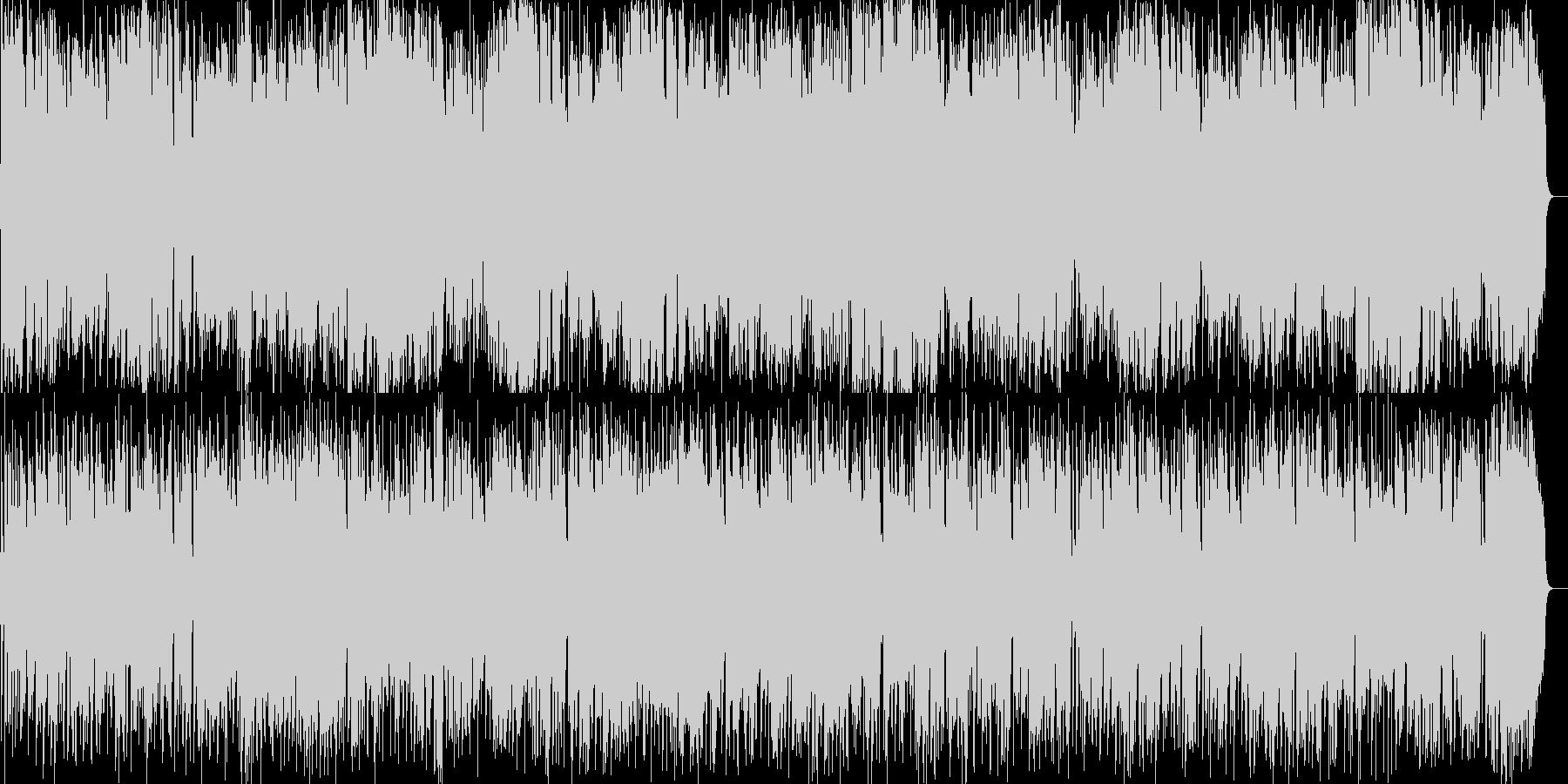 テナーサックスによるアダルトフュージョンの未再生の波形