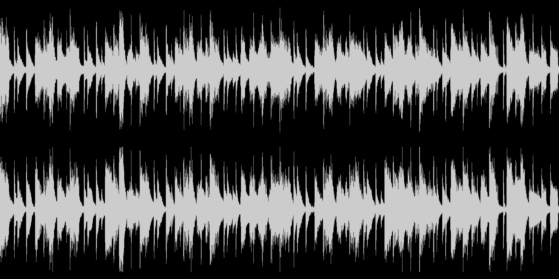わくわくピアノジャズ(ループ)の未再生の波形
