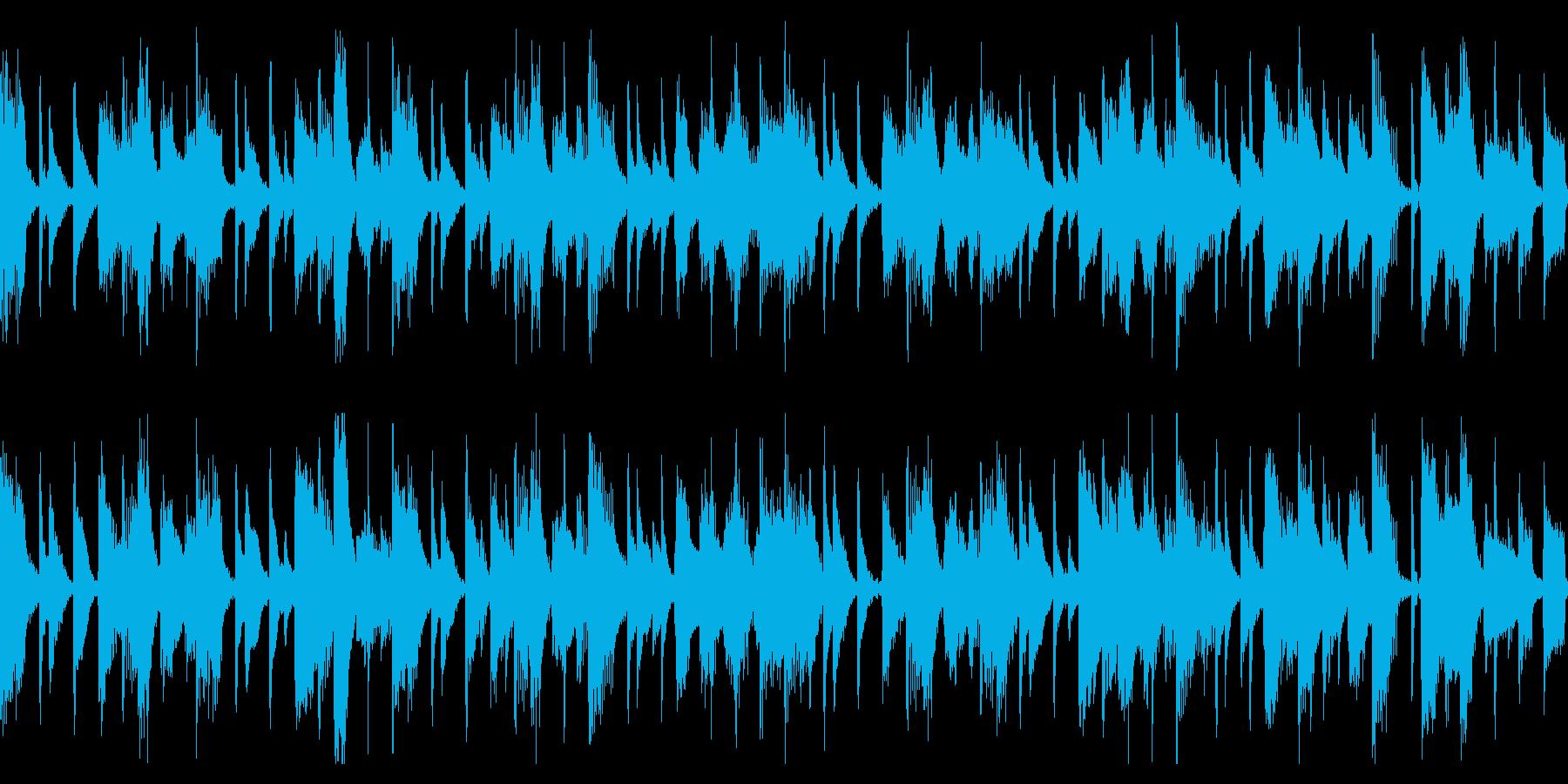 わくわくピアノジャズ(ループ)の再生済みの波形