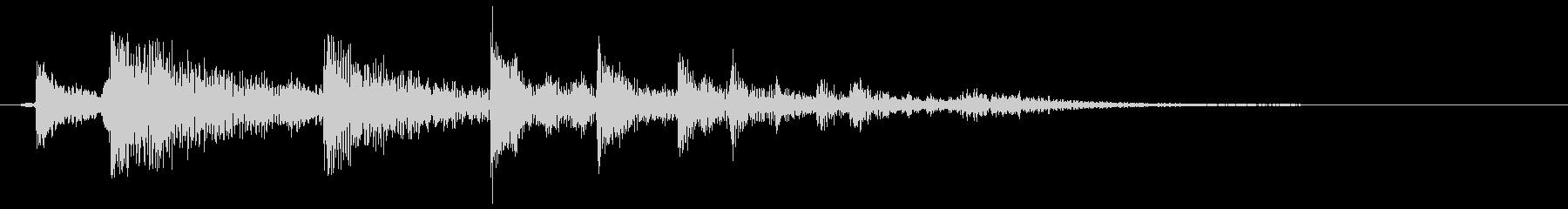 カラララン(軽快なリアリティある効果音)の未再生の波形