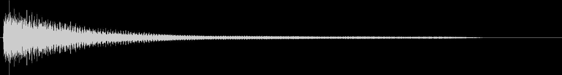 ピアノによる和音(穏やか)の未再生の波形