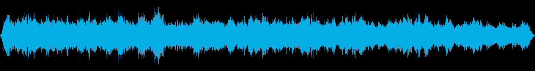 崖の上に吹く強い突風の再生済みの波形