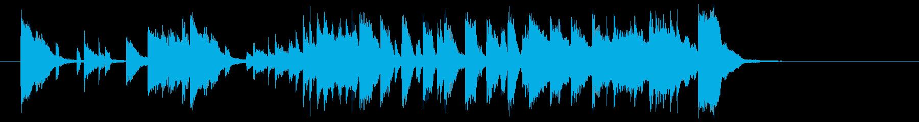軽快でキャッチ―なポップジングルの再生済みの波形