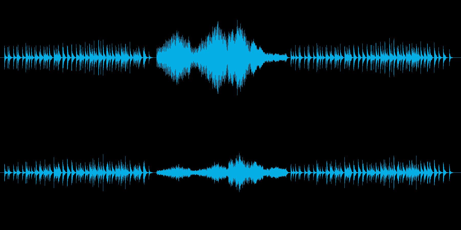 和風というか古風な感じのオルゴール楽曲…の再生済みの波形