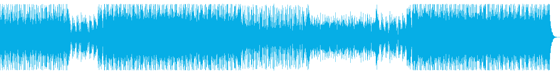 かわいいピコピコサウンドのテクノの再生済みの波形