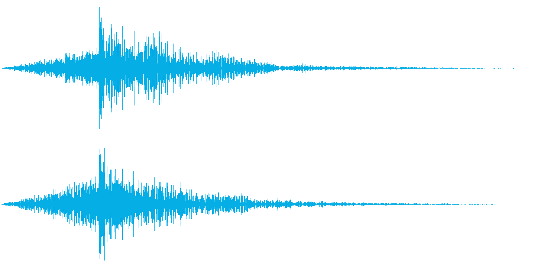 ホラー系アタック音131の再生済みの波形