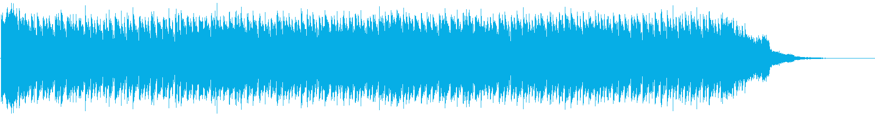リフが細かく動くユーロビートの再生済みの波形