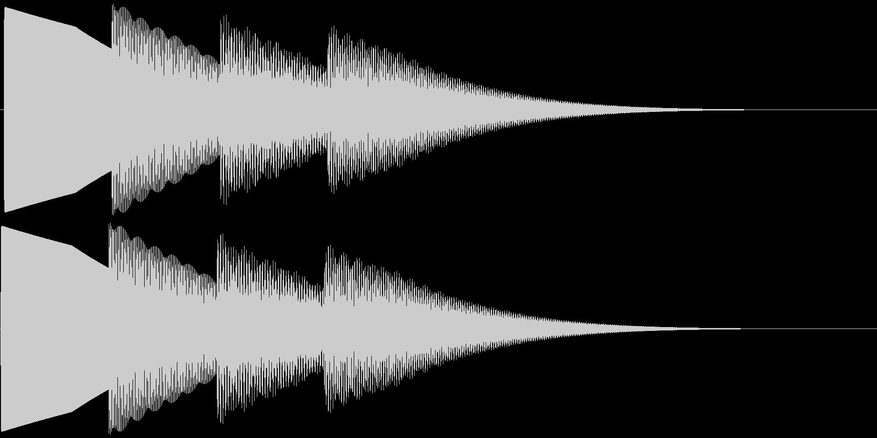 ピンポンパンポーン 下降(柔い)お知らせの未再生の波形