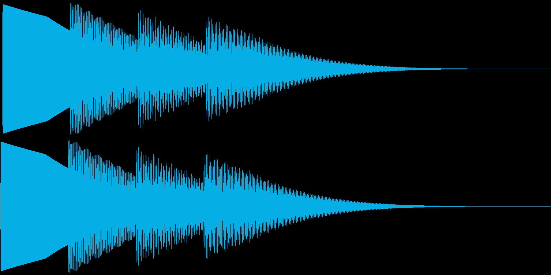 ピンポンパンポーン 下降(柔い)お知らせの再生済みの波形