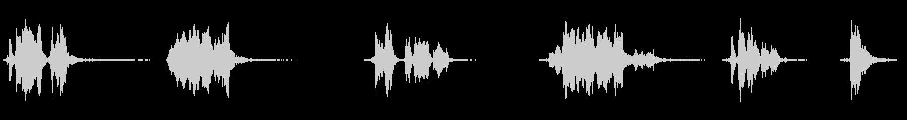 金属摩擦スライドx6の未再生の波形