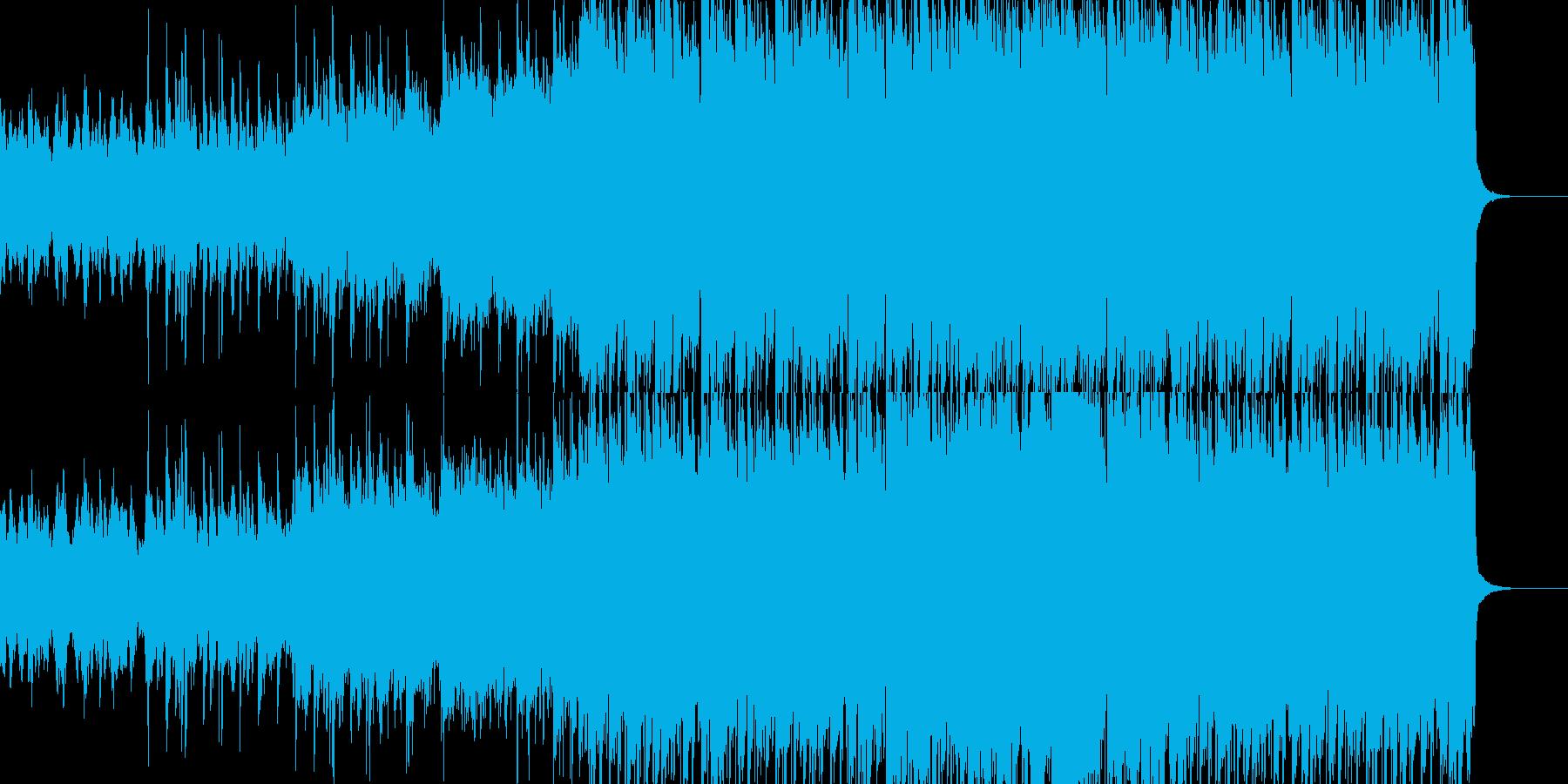 明るいケルト(アイリッシュ)音楽の再生済みの波形