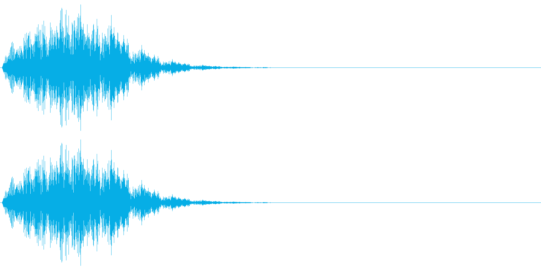 ウインドウを開く、画面に何か表示される…の再生済みの波形