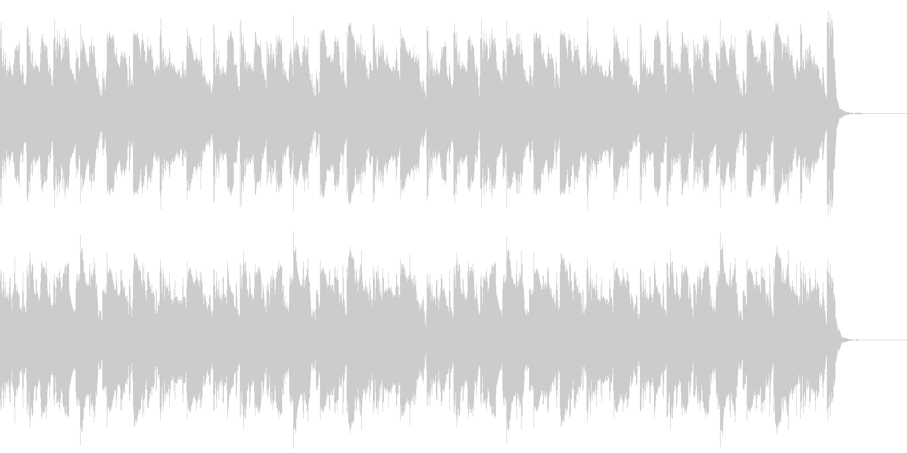 動画広告 30秒 リコーダーB 日常の未再生の波形