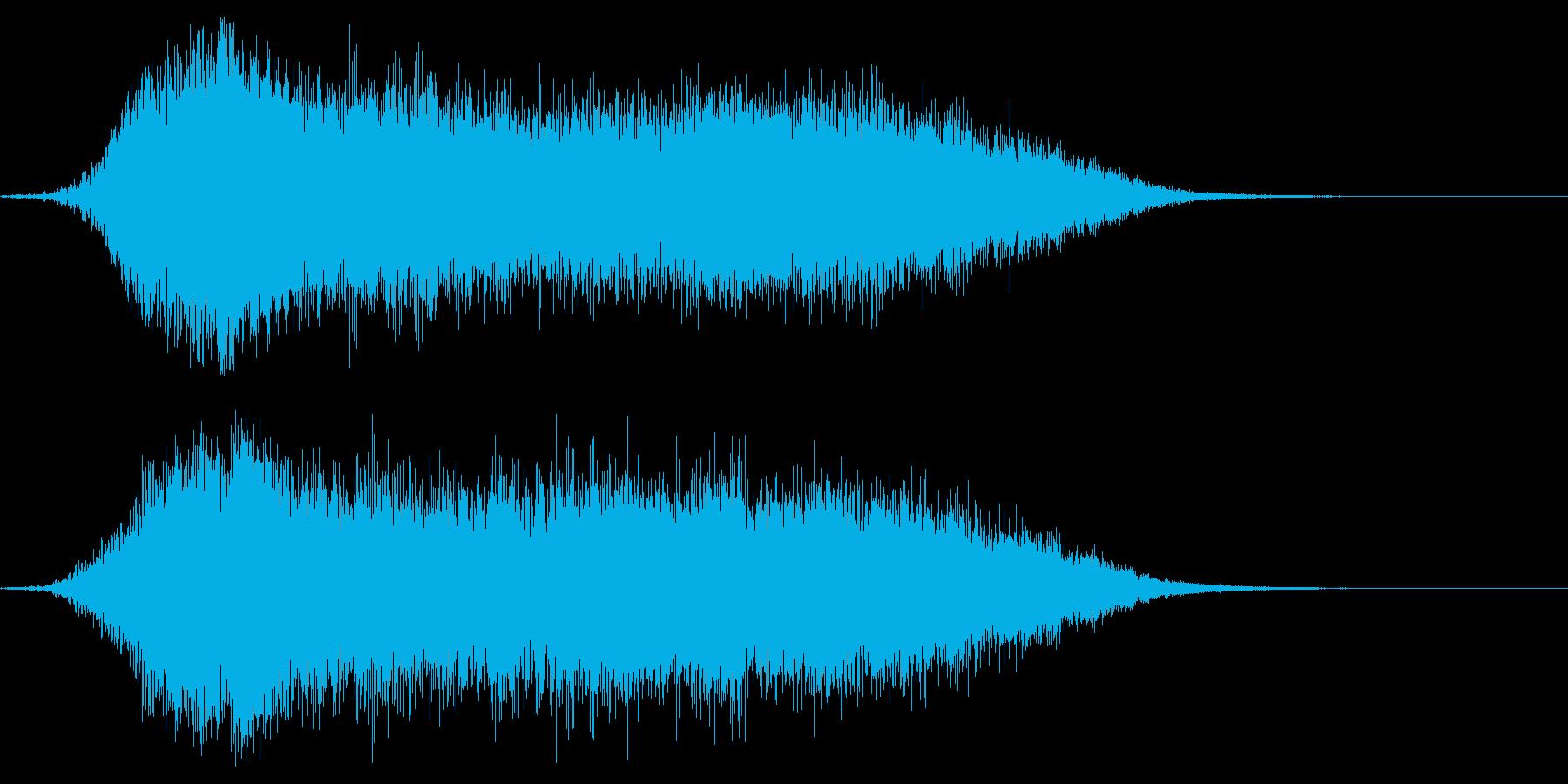 シネマティックサウンドロゴ1の再生済みの波形