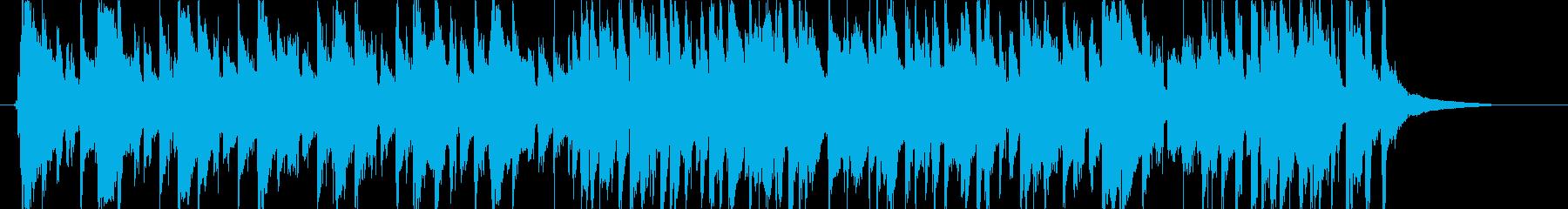 ほのぼのした日常的なアコギBGMの再生済みの波形