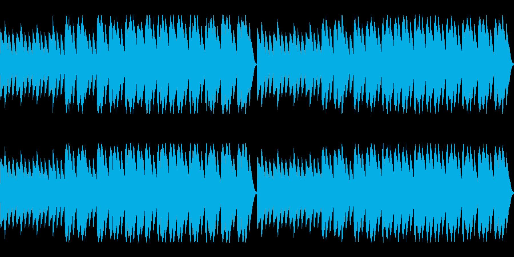 静かで切ない雰囲気のチップチューンの再生済みの波形