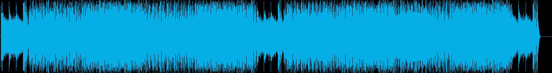 心が飛び跳ねるエキサイティングロックの再生済みの波形